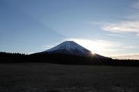あさぎりフードパークより富士山からの日の出